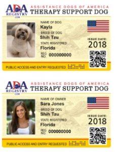 Ada Assistance Dog Registry Register Your Dog Online
