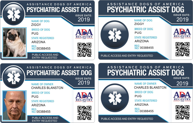 Assistance Dog Id Card Gallery Ada Assistance Dog Registry