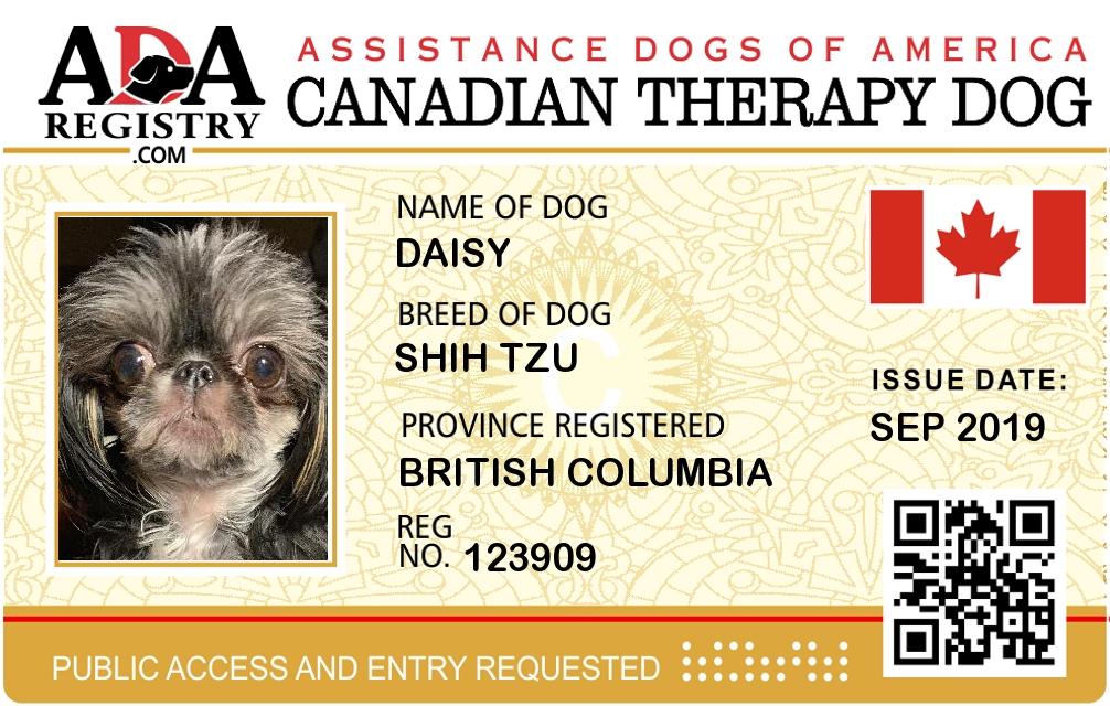 Diabetic Alert Dog Registration For