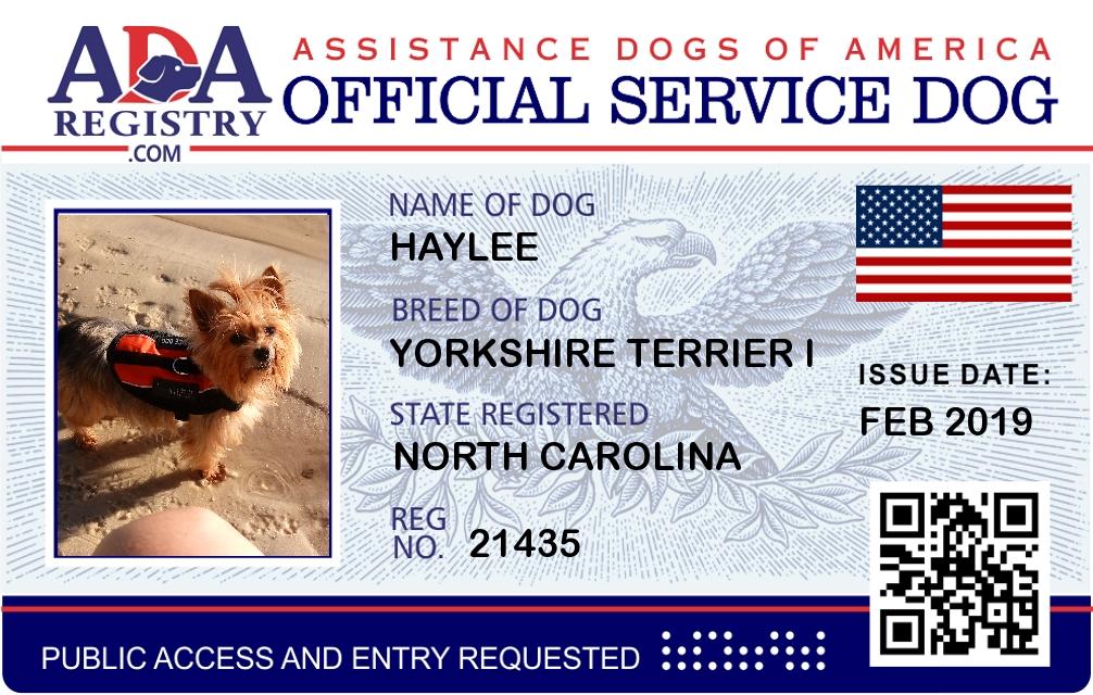 Service Dog Registration For Dog Ada Assistance Dog Registry